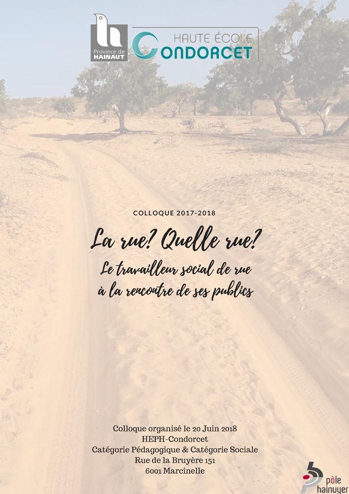 Note de synthèse du colloque travail de rue Condorcet, 20 juin 2018