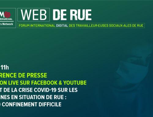 WEB DE RUE 26-30.10.20Forum international digital des travailleur·euses sociaux·ales de rue